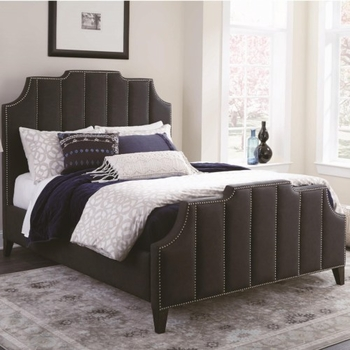 Sinclair Upholstered Queen Bed with Nailhead Trim by Donny Osmond Home