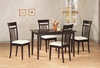 5 PC Andrews Dining Set with Upholstered Chairs