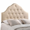 Floor Model SOVEREIGN QUEEN UPHOLSTERED FABRIC HEADBOARD IN BEIGE
