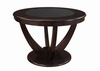 Stapleton Dining Table with Black Glass Top