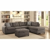 Stonenesse Grey 500413 Sectional with Button Tufted Cushions