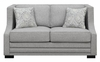 Sullivan Contemporary Loveseat Accented with Nailhead Trim by Donny Osmond Home