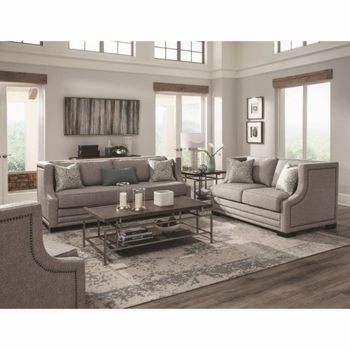 Sullivan Contemporary Sofa Accented with Nailhead Trim by Donny Osmond Home