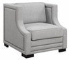 Sullivan Contemporary Upholstered Chair Accented with Nailhead Trim by Donny Osmond Home