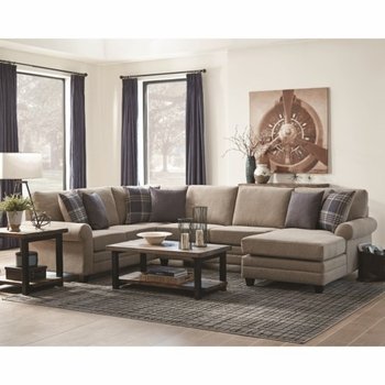 Summerland Chaise Sectional with Rolled Armrests by Scott Living