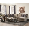 Summerland Chaise Sectional with Rolled Armrests