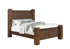 Sutter 204531ke Creek King Bed with Block Posts