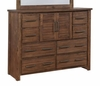 Sutter Creek 204533 Tall Dresser with 2 Doors & Wire Brushed Acacia Veneer
