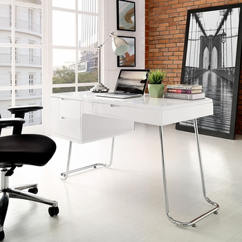 SWING OFFICE DESK IN WHITE