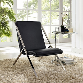 SWING VINYL LOUNGE CHAIR