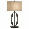 Table Lamp with Rectangular Shade