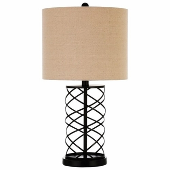 Twisted Base Table Lamp Bronze 920023