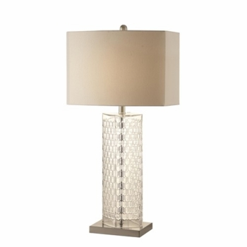 Table Lamps Contemporary Clear Glass Lamp