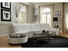 Talia Contemporary Sectional Conversation Sofa with Built-In Table