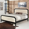 TOMMY QUEEN BED IN BLACK