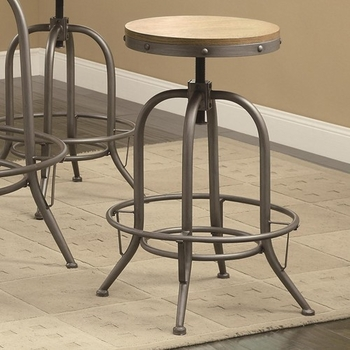 Transitional Adjustable Bar Stool