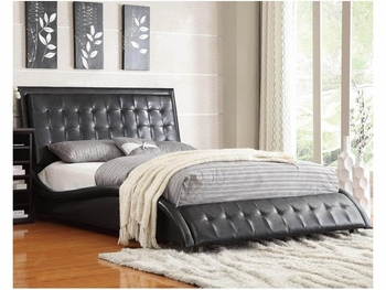 Black Tully Upholstered Queen Bed