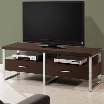 TV Stands 59 Inch TV Console with Chrome Legs