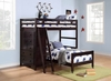 Twin/Twin Loft Bed With Storage Youth Bedrooms Furniture