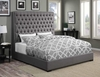 Upholstered Beds Upholstered King Bed with Diamond Tufting