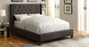 Upholstered California King Bed with Tall, Tufted Headboard