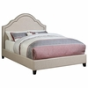 Upholstered King Bed with Scalloped Headboard