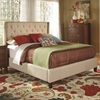 Upholstered King Bed with Tall, Tufted Headboard