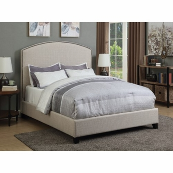 Upholstered Queen Bed with Nailhead Trim # 301092Q