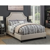 Upholstered Queen Bed with Scooped Corners #301093Q