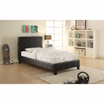 Upholstered Twin Bed with Bluetooth Speakers # 300751T