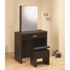 Vanities White Vanity with Hidden Mirror Storage and Lift-Top Stool