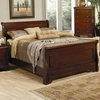 Versailles Queen Sleigh Bed with Deep Mahogany Stain