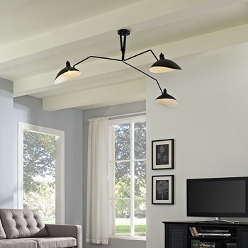 VIEW CEILING FIXTURE IN BLACK 1591