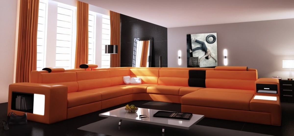 Divani Made In Italy.Vig Divani Casa Made In Italy High Quality Sectional Polaris Living