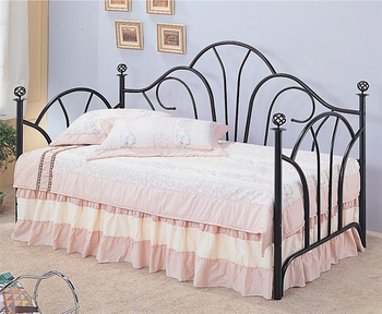 Vine Twin Metal High Back Daybed with Filligree Knobs