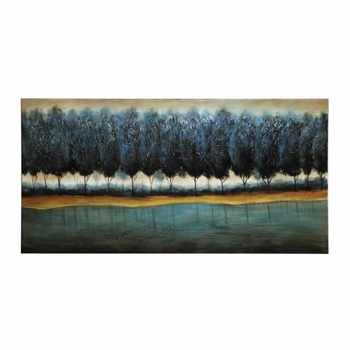 Wall Art Blue Forest Art