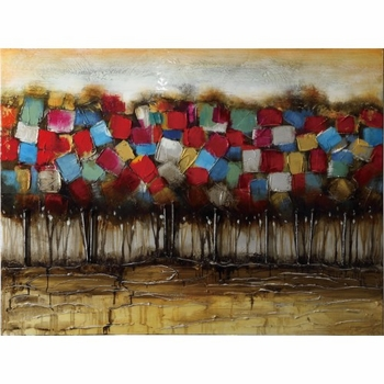 Wall Art Patchwork Forest Art