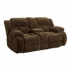 Weissman Casual Pillow Padded Reclining Loveseat with Cupholders and Storage