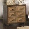 Wheatland 3 Drawer Nightstand with USB Charging Cables