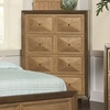 Wheatland 4 Drawer Chest with Gold Drawer Fronts