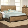Wheatland Queen Bed with Antiqued Gold Finished Panels