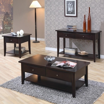 Whitehall Coffee Table w/ Shelf & Drawers