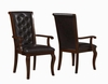 Williamsburg Dining Arm Chair with Tufted Back and Cabriole Legs