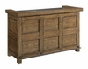 Willowbrook Rustic Arts and Crafts Bar Cabinet with Wine Storage