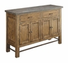 Willowbrook Rustic Arts and Crafts Server with Bluestone Top