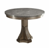 Willowbrook Rustic Industrial Round Dining Table with Bluestone Top and Gunmetal Detailing