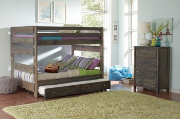 Wrangle Hill Full/Full Bunk bed with trundle