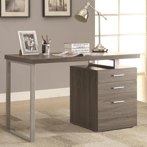 Writing Desk With File Drawer And Reversible Set Up
