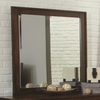 Yorkshire Beveled Mirror with Wood Frame