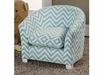 Youth Seating and Kid's Chair in Baby Blue Zig Zag